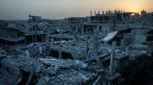 View of a heavily damaged neighborhood in Kobane, Syria, which had been targetted by a series of US-led coalition airstrikes. (Alice Martins — The Washington Post)