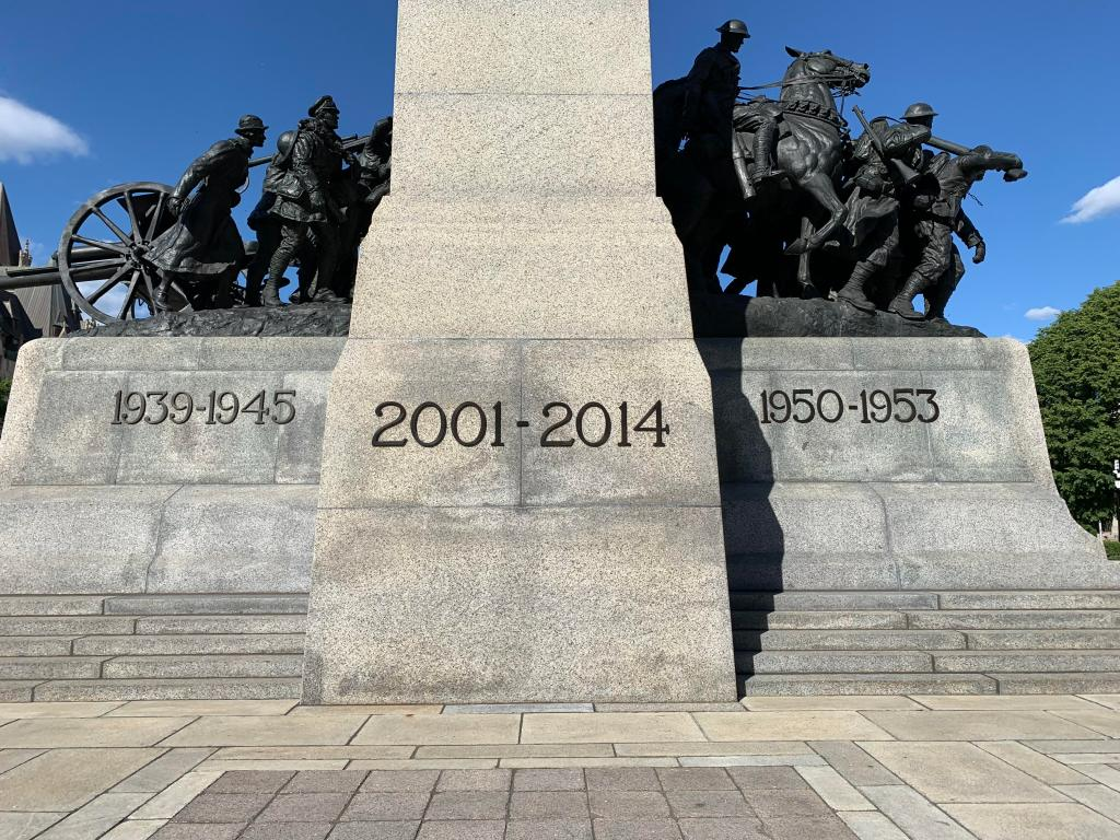 Canada's National War Memorial in Ottawa. If it is unacceptable for Germans and Japanese to honor their countries' wars of aggression (and it is), is not equally unacceptable for Canadians to honor Canada's wars of aggression, including the war on Korea and the war on Afghanistan?